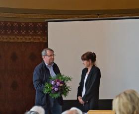 Eröffnung der Feierlichkeiten durch Bürgermeister Günter Schmidt und Pfarrerin Margrit Flaschmann