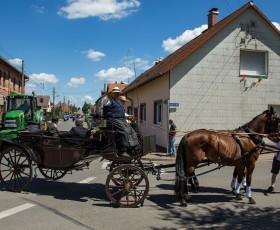 In der Kutsche saßen der Landrat Herr Henning und unser Bürgermeister Herr Schmidt