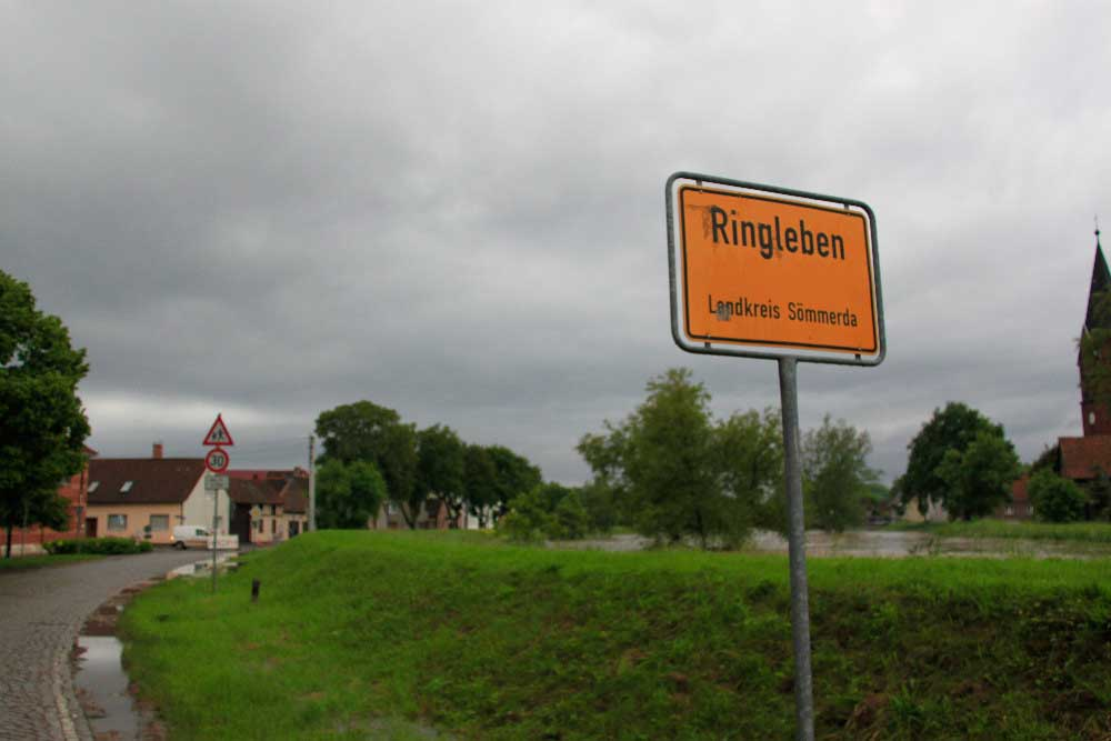Ortseingang von Ringleben bei Gebesee